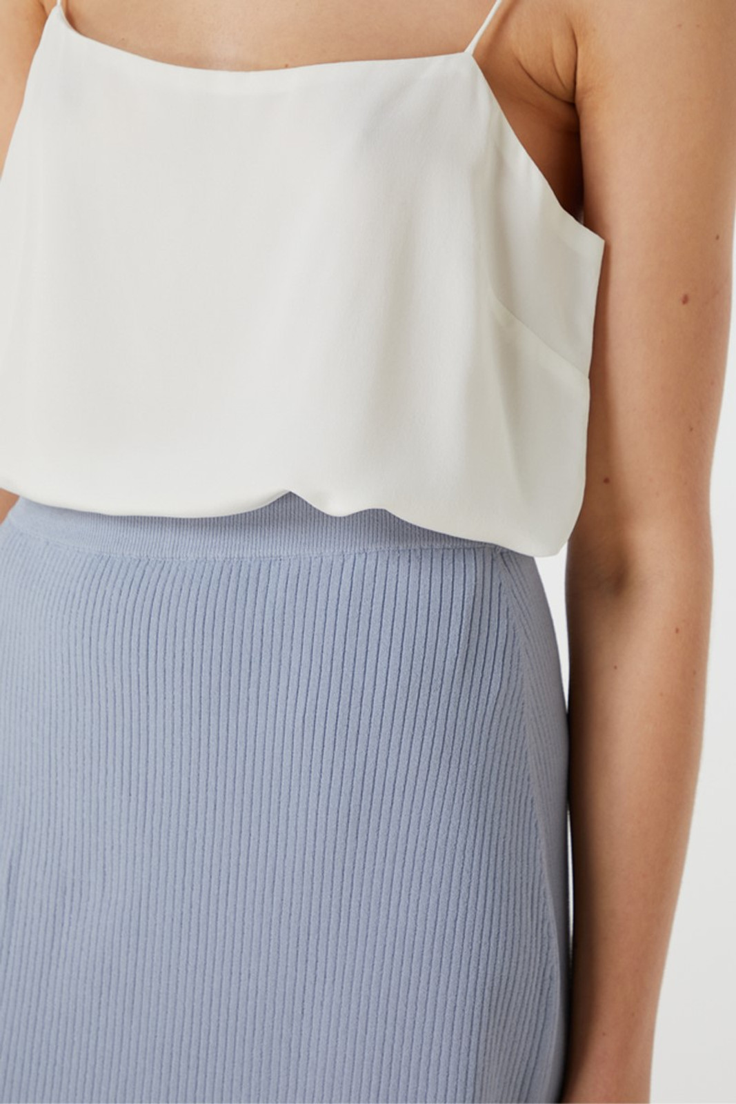 Elka Collective Airley Knit Skirt Blue  4