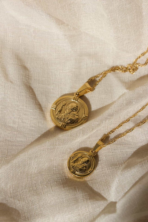 Elka Collective  BRIE LEON ST CHRISTOPHER PENDANT GOLD Gold