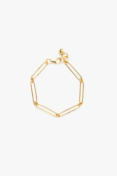 Elka Collective Womens Gold  Flash Vermouth Chain Bracelet