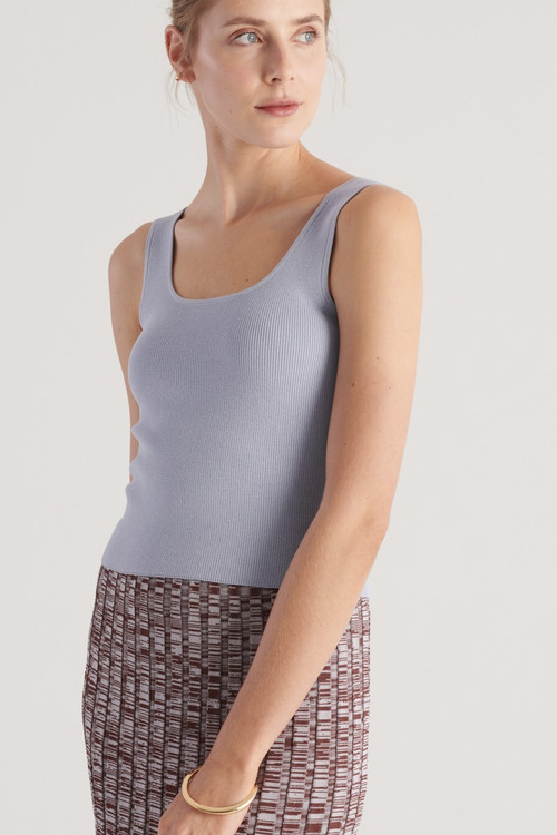 Elka Collective WOMENS Blue  Frame Knit Top