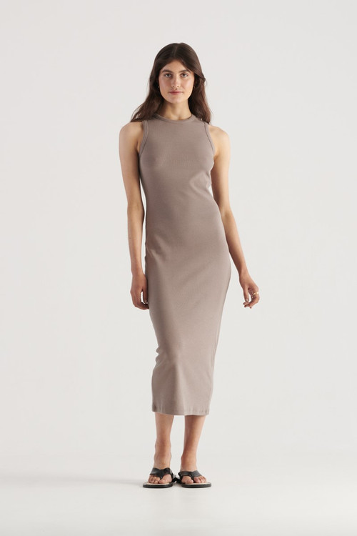 Elka Collective Womens Nola Dress Taupe