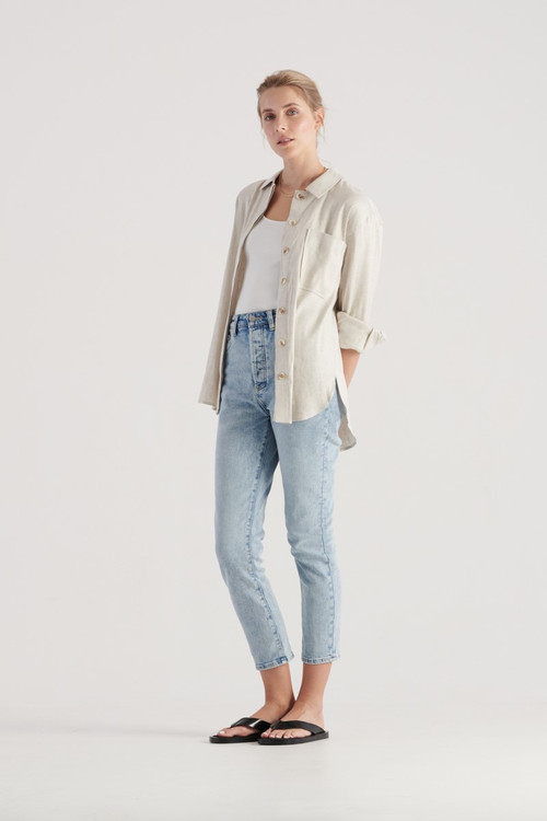 Elka Collective Womens Cate Shirt Natural