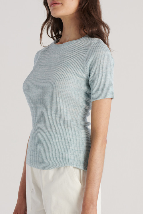 Elka Collective Womens Gale Knit Top Sea Blue