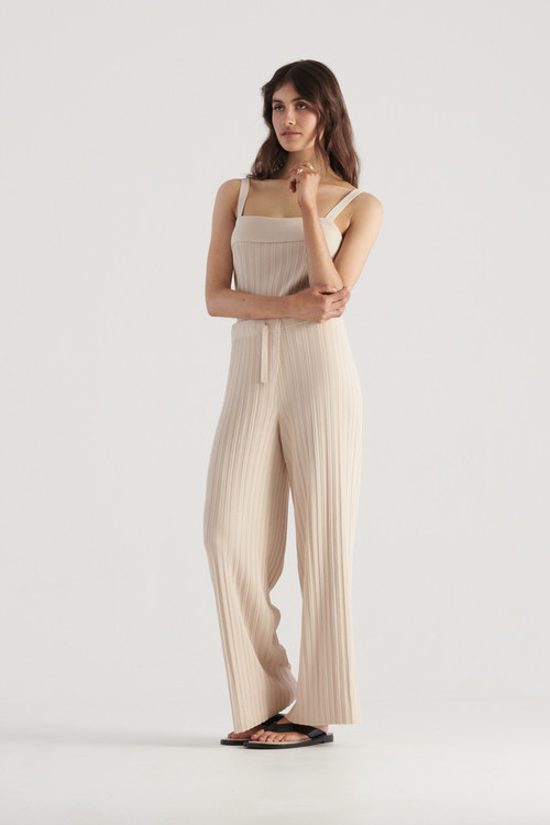 Elka Collective Womens Palma Knit Pant Biscuit