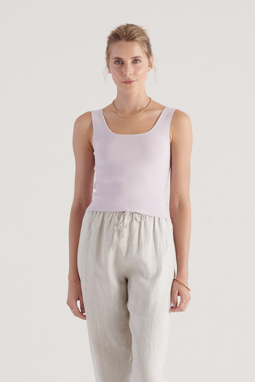 Elka Collective Womens Frame Knit Top Lilac