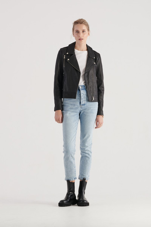 Elka Collective WOMENS Black  Carrie Leather Jacket