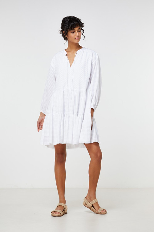 Elka Collective  Ophelie Dress White