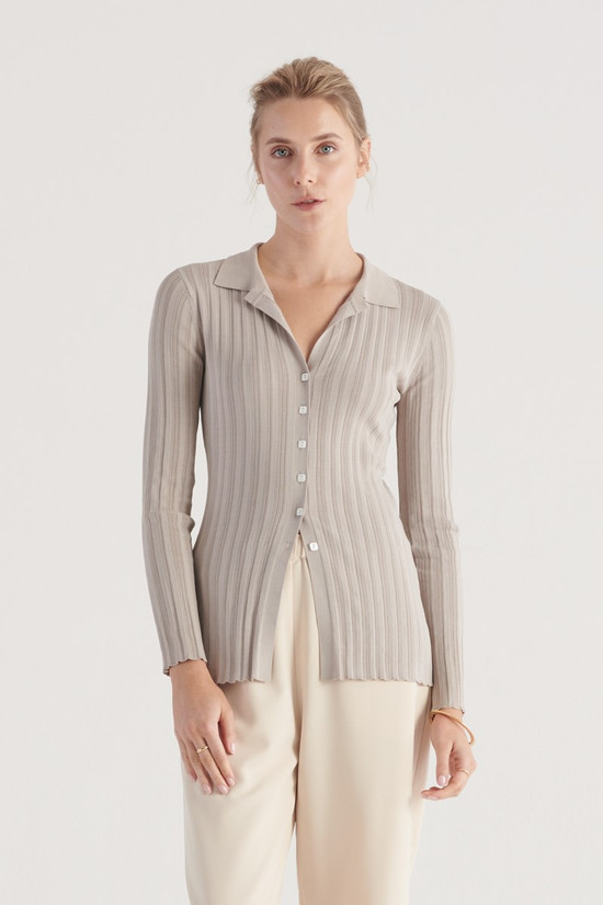Elka Collective Change Knit Top Champagne