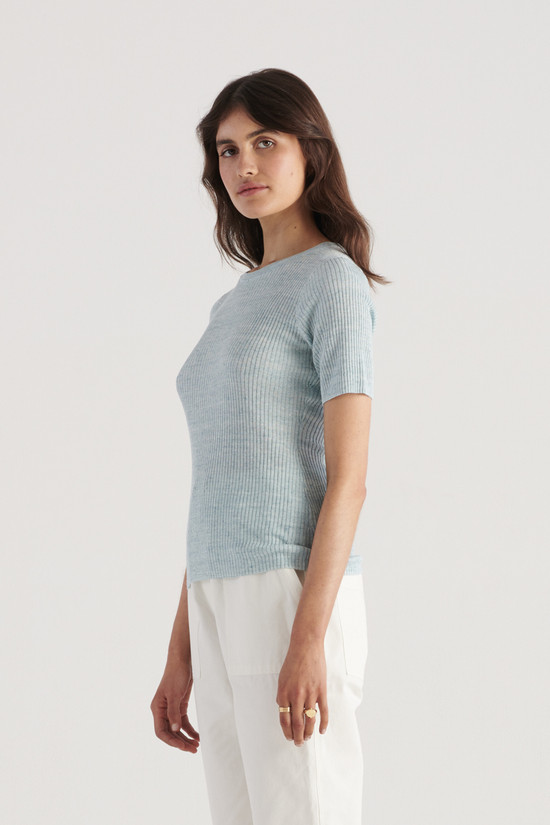 Elka Collective Gale Knit Top Sea Blue