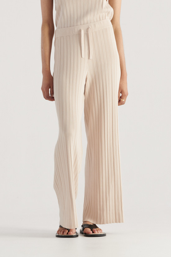 Elka Collective Palma Knit Pant Biscuit