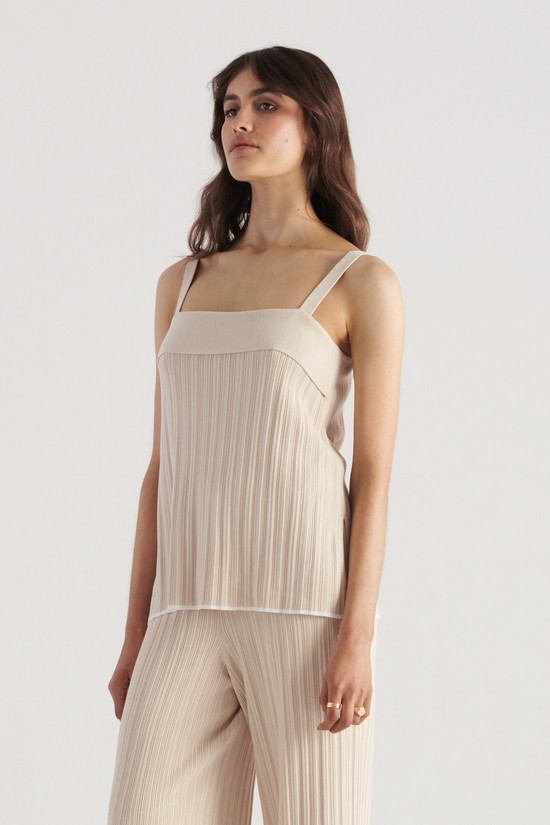 Elka Collective Palma Knit Top Biscuit