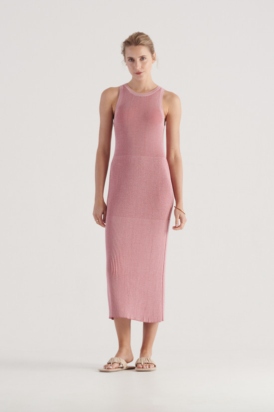 Elka Collective Stevie Knit Dress Pink/Red