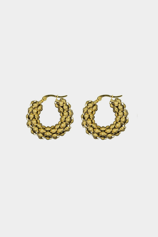 Elka Collective Brie Leon Pebble Hoops  Gold