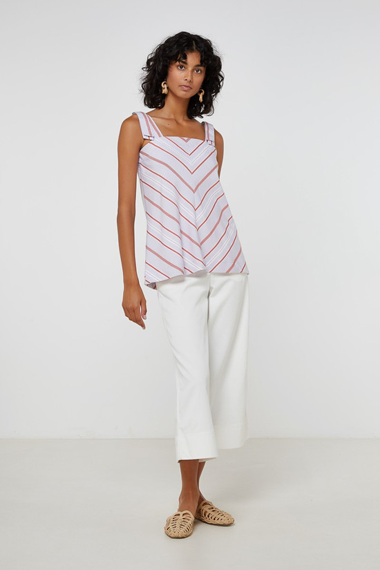 Elka Collective Evelyn Top Lilac Stripe