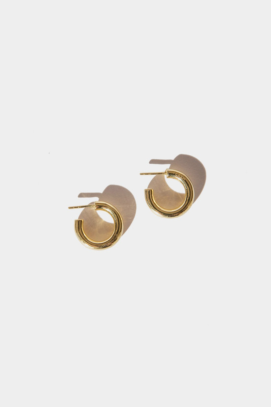 Elka Collective Flash Goldie Tube Hoops 18 Mm Gold