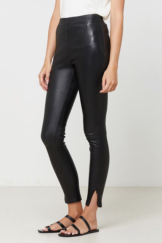 Elka Collective Rosa Leather Pant Black