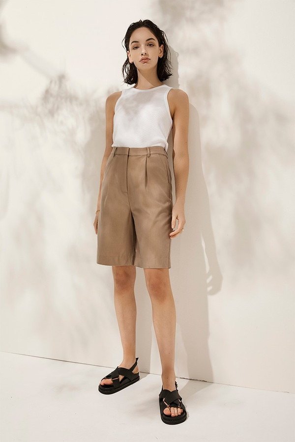 Elka Collective Lucini Short Taupe