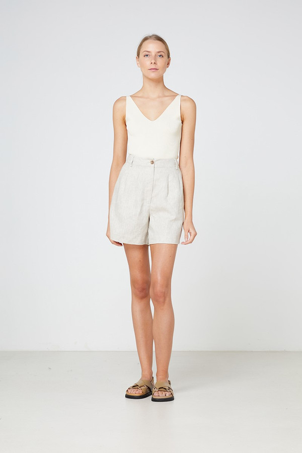 Elka Collective Lyon Knit Top Cream