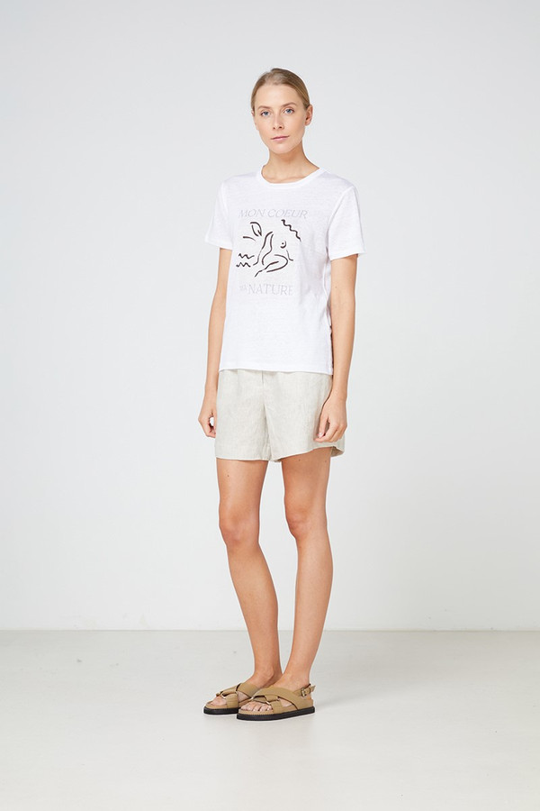 Elka Collective Mon Coeur Tee White