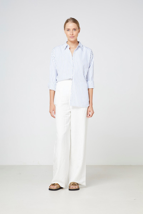 Elka Collective Calabria Shirt Blue Stripe