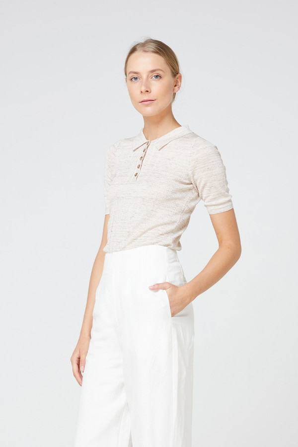 Elka Collective Carmine Knit Top Oatmarle
