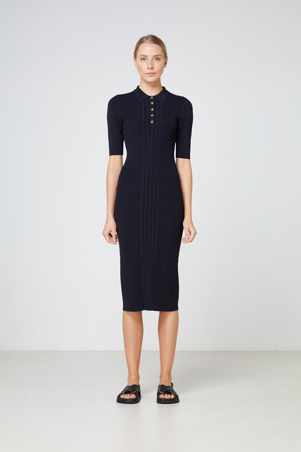 Elka Collective Carmine Knit Dress Black