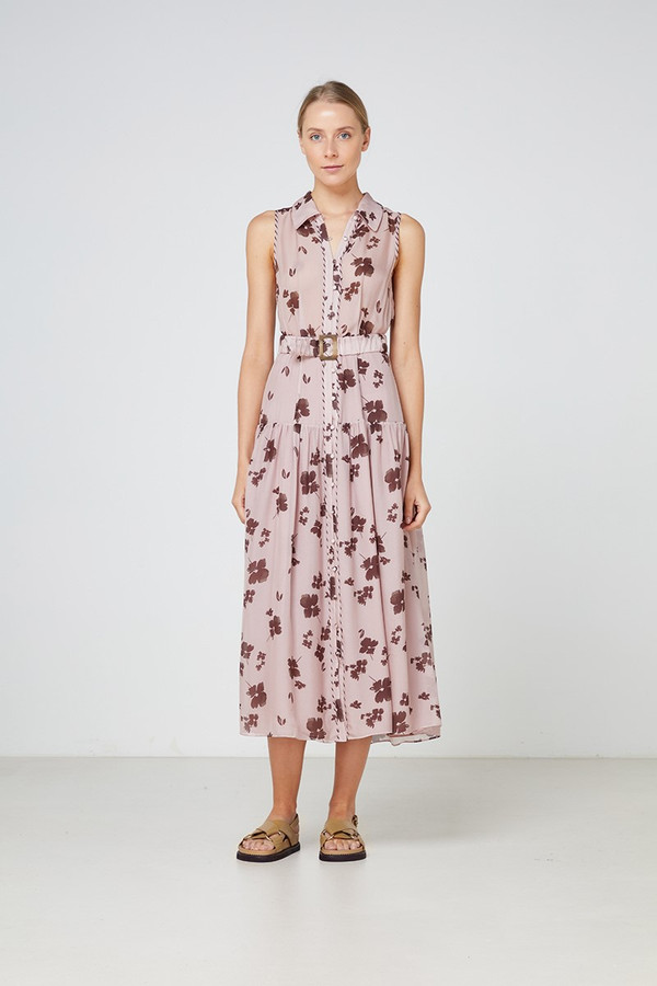 Elka Collective Portofino Maxi Dress Blush Foral Print