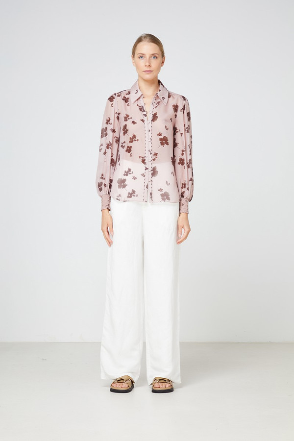 Elka Collective Portofino Shirt Blush Foral Print