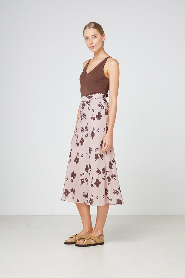 Elka Collective Portofino Skirt Blush Foral Print