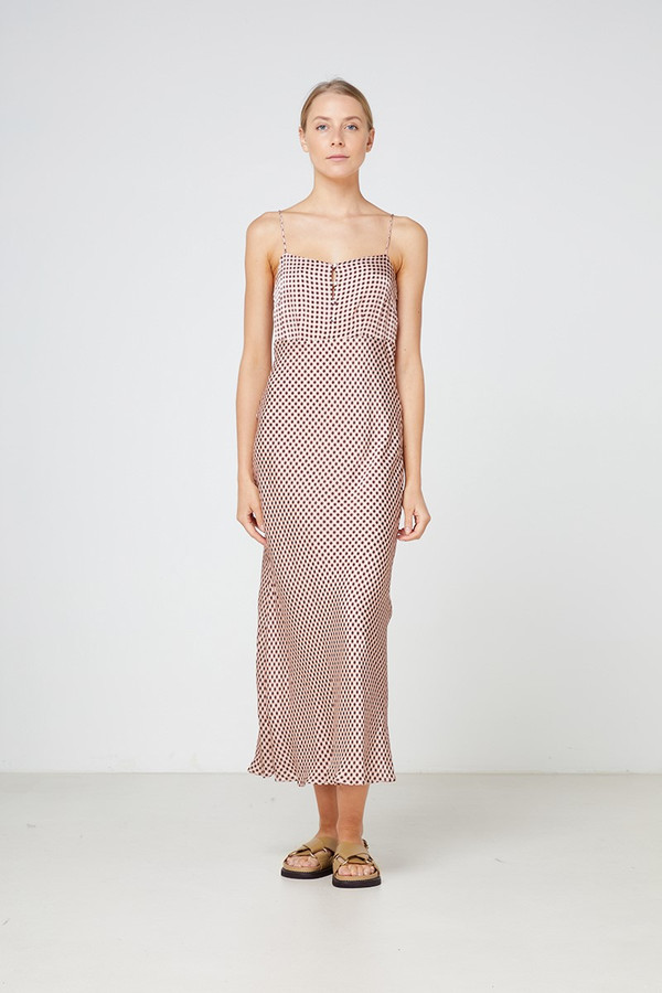 Elka Collective La Rochelle Dress Blush Gingham