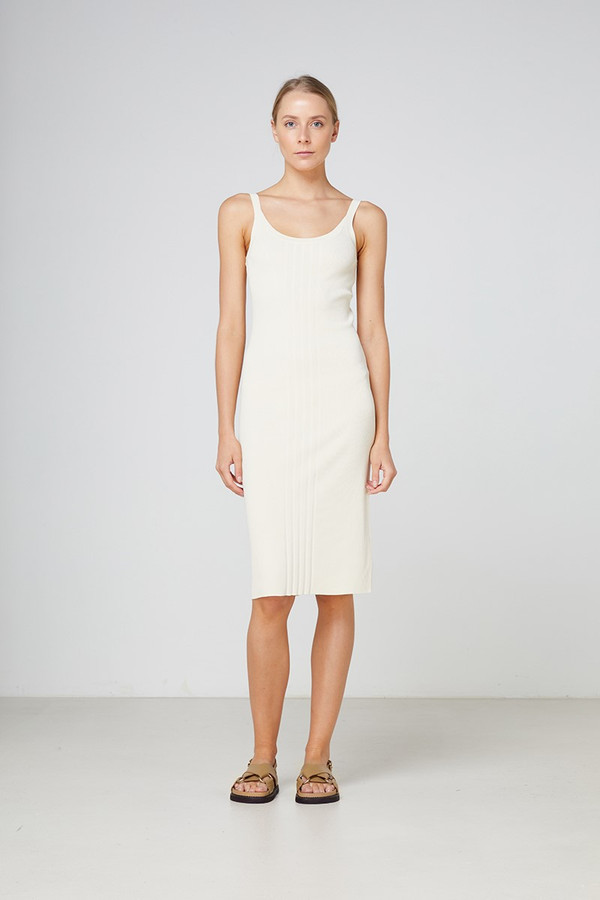 Elka Collective Cabrini Knit Dress Cream