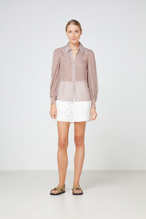Elka Collective La Rochelle Shirt Blush Gingham