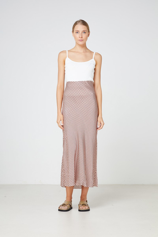 Elka Collective La Rochelle Skirt Blush Gingham