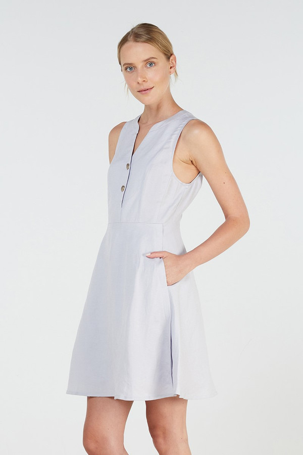 Elka Collective Norcia Dress Grey Dawn