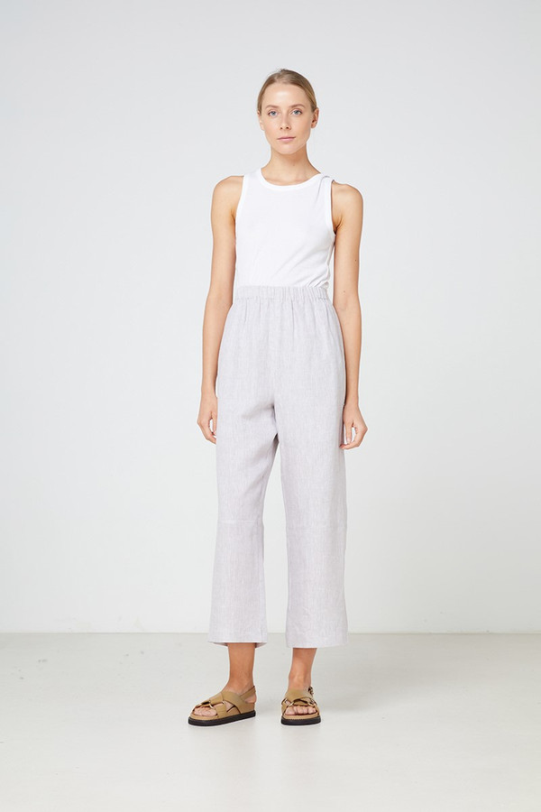 Elka Collective Como Pant Grey Linen