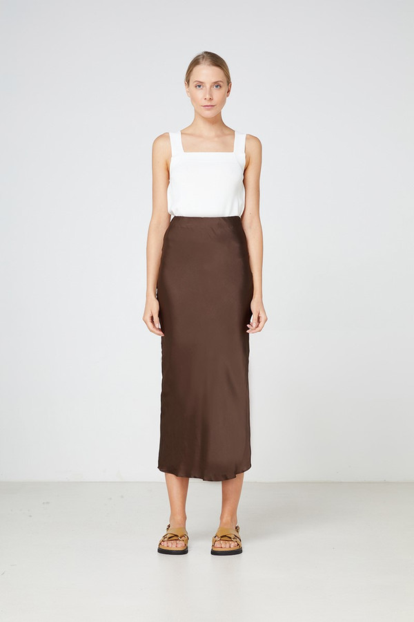 Elka Collective Versailles Skirt Chocolate