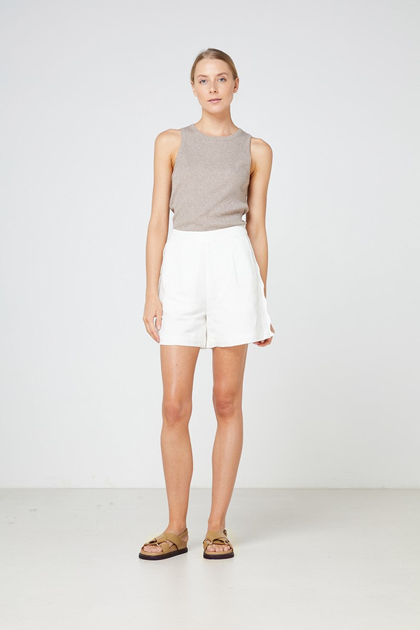 Elka Collective Petani Short White