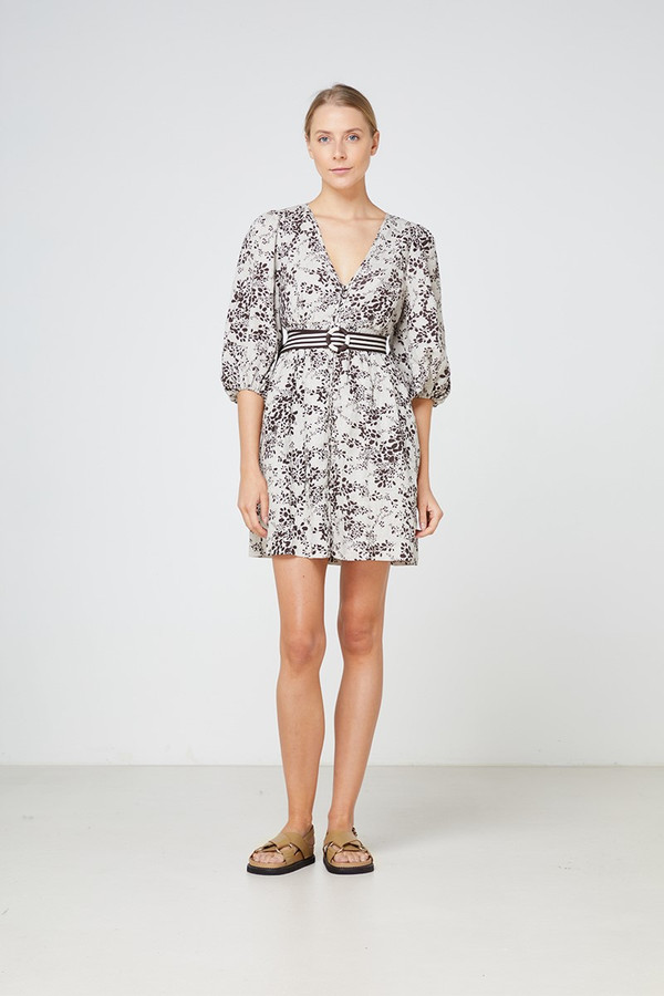 Elka Collective Belmond Dress Cocoa Print