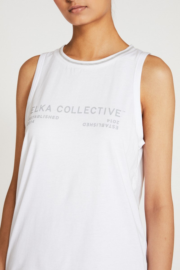 Elka Collective Racer Tank White