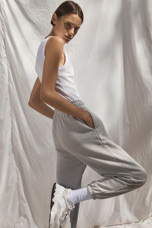 Elka Collective Trademark Trackpant Light Grey Marle