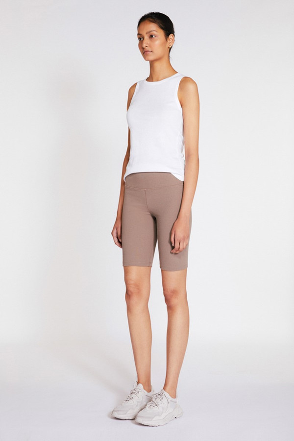 Elka Collective Racer Ribbed Short Taupe