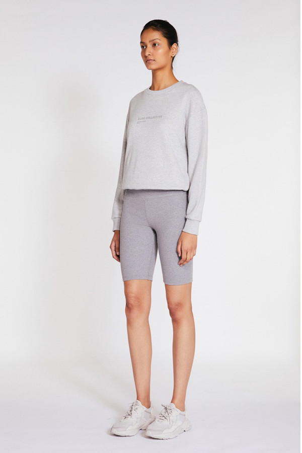 Elka Collective Trademark Crew Light Grey Marle