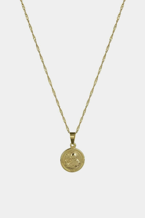 Elka Collective Brie Leon St Christopher Pendant Gold