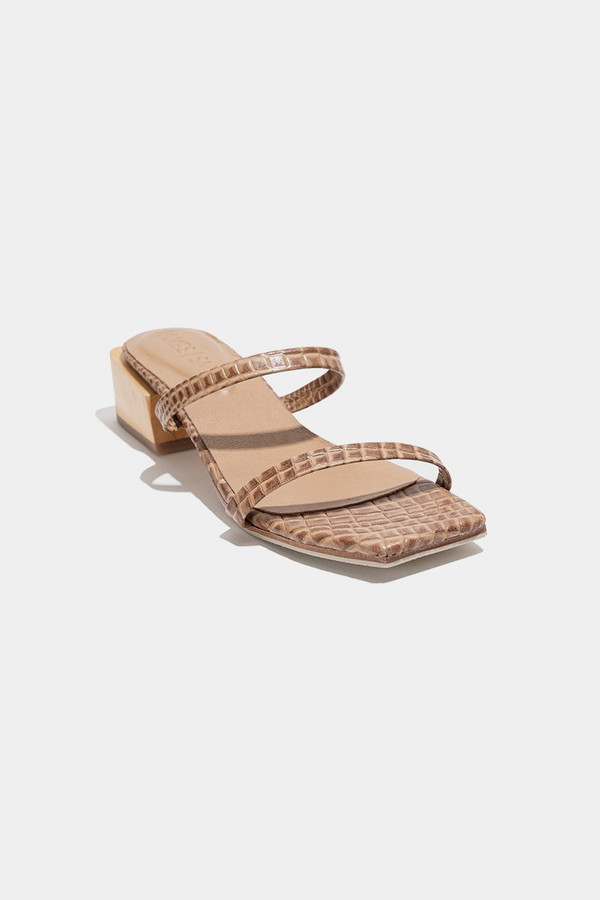 Elka Collective Salo Sandal Brown Croc
