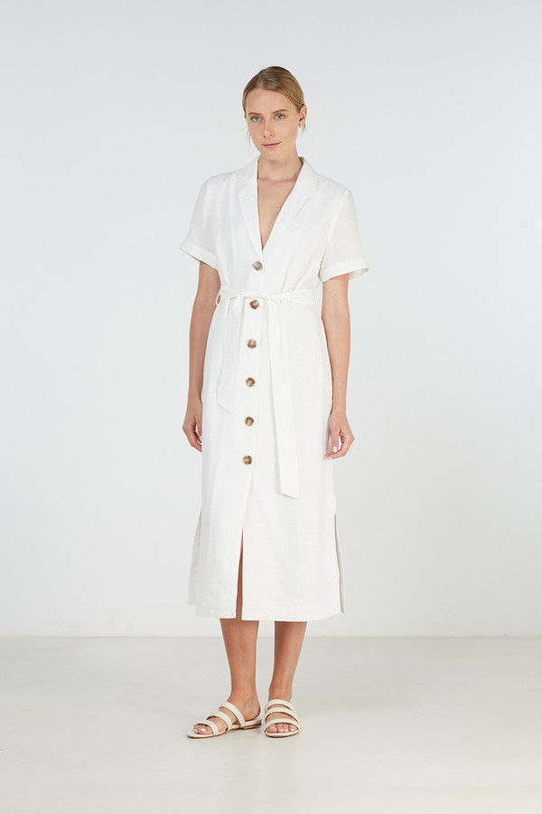 Elka Collective Annalie Dress White