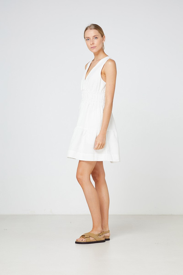 Elka Collective Lazio Dress White