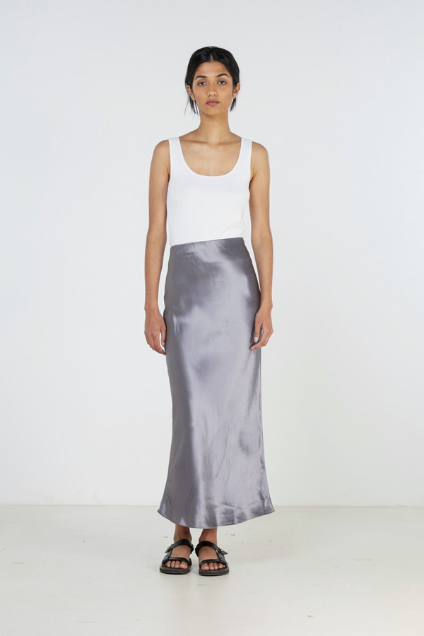 Elka Collective Ivory Skirt Flint Blue