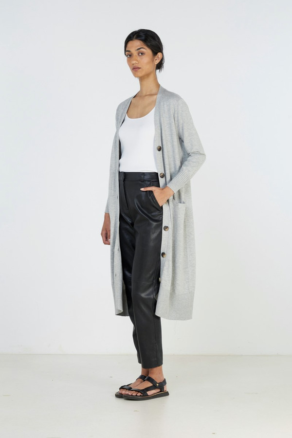 Elka Collective Slate Knit Cardi Grey Marle