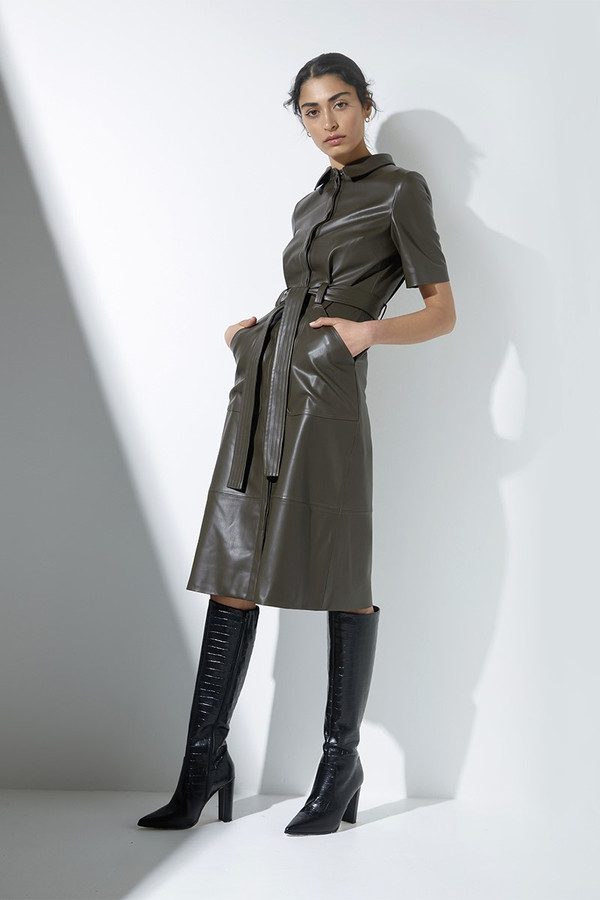 Elka Collective Reflection Dress Olive