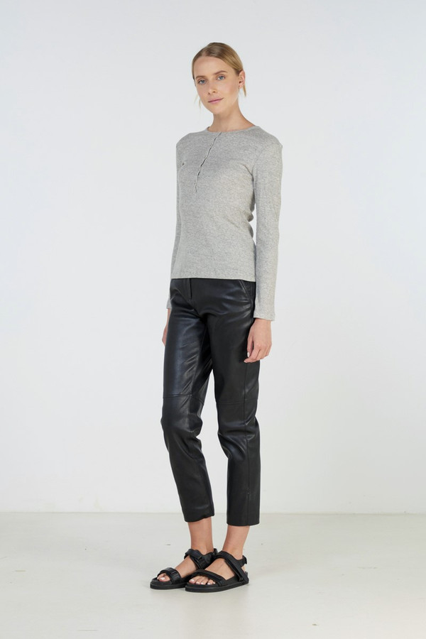 Elka Collective Infinity Ls Top Grey Marle